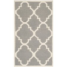 Dhurries Hand-Woven Grey Area Rug