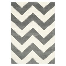 Hand-Tufted Grey Area Rug