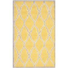 Cambridge Hand-Tufted Gold/Ivory Area Rug