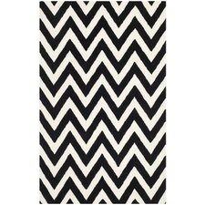 Wilson Hand-Tufted Black Area Rug