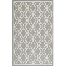 Cambridge Hand-Tufted Silver/Ivory Area Rug