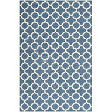 Manuel Hand-Tufted Navy Area Rug