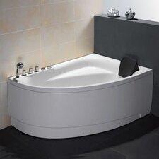 "Single Person Corner 59"" x 39.4"" Whirlpool Tub"