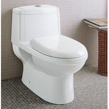 Ceramic Dual Function Elongated Toilet 1 Piece
