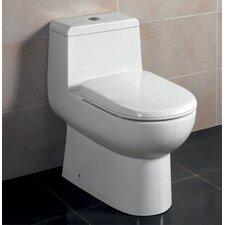 Ceramic Dual Flush Elongated Toilet 1 Piece
