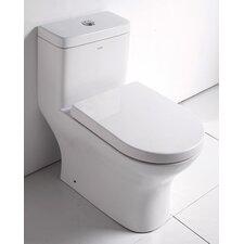 Ceramic Dual Flush Elongated 1 Piece Toilet