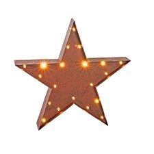 Lighted Metal Star Bar Sign