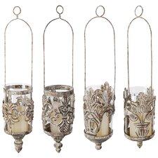 4 Piece Metal Hanging Lantern Set