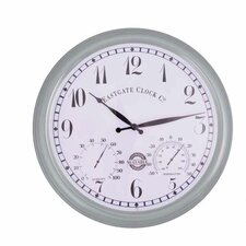 "World of Weather 15"" Outdoor Clock"