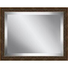 Antique Framed Beveled Plate Glass Mirror