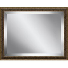 Traditional Antique Framed Beveled Plate Glass Mirror