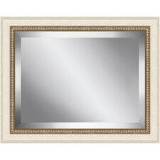 Antique Bead Framed Beveled Plate Glass Mirror