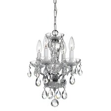 4 Light Crystal Mini Chandelier