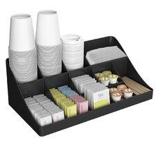 13 Compartment Breakroom Coffee Condiment Organizer