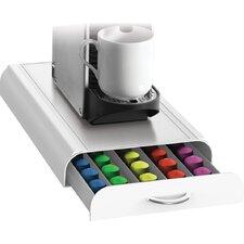 50-Pod Mind Reader Nespresso Capsule Storage Drawer White