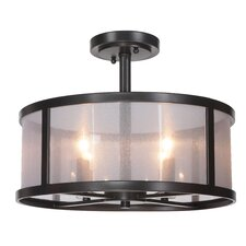 Danbury 4 Light Semi Flush Mount