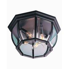 Bent Glass 4 Light Flush Mount