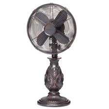 Fleur De Lis Oscillating Table Fan