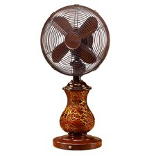 Rustic Oscillating Table Fan