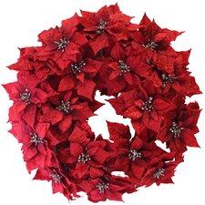 """24"""" Christmas Poinsettia Wreath"""