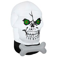 Airblown Halloween Inflatable Gotham Skull Decoration