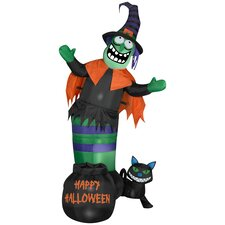 Animated Wobbling Witch Scene Halloween Decoration