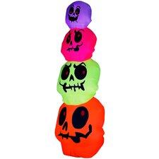 Airblown Halloween Inflatable Skulls Stack Decoration