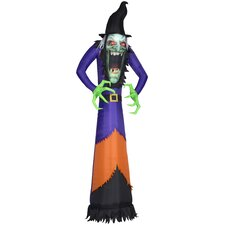 Photorealistic Witch Airblown Inflatable Halloween Decoration