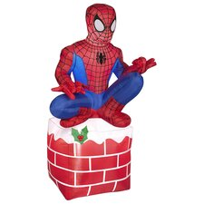 Airblown Inflatables Christmas Holiday Spider Man on Chimney Decoration
