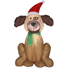 Airblown Inflatables Christmas Holiday Dog Decoration