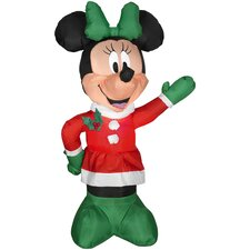 Airblown Inflatables Christmas Minnie in Winter Outfit Decoration