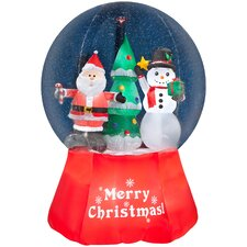 Airblown Inflatables Snow Globe-Santa with Snowman-Giant