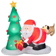 Airblown Inflatables Santa and Dog Scene
