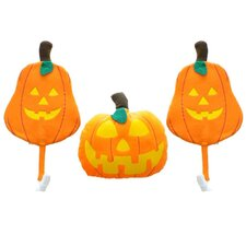 Halloween Vehicle 3 Piece Pumpkin Car Costume Decoration Set