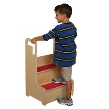Healthy Kids 2-Step Wood Step-Up-N-Wash Step Stool