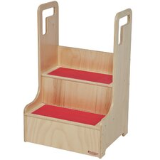 2-Step Baltic Birch Plywood Step-Up-N-Wash Children's Step Stool with 200 lb. Load Capacity