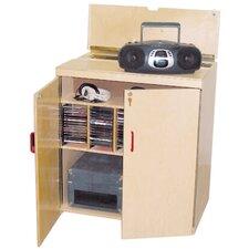 Lock-It-Up Center Audio Cabinet