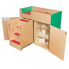 Deluxe Infant Care Center with Safety Steps Changing Table