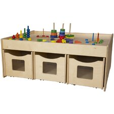 "Activity Island 44"" x 18"" Rectangular Classroom Table"
