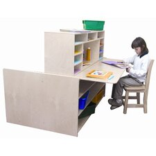 "Read-N-Write Station Manufactured Wood 40"" Multi-Student Desk"