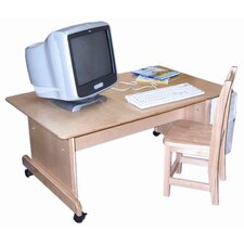 Wood Adjustable Height Computer Desk