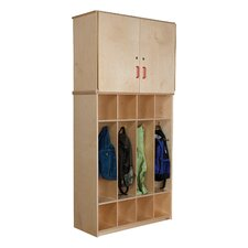 4-Section Vertical Storage Cabinet Coat Locker