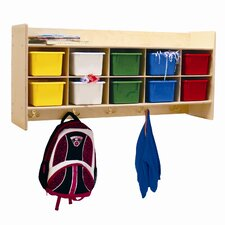 Contender 10-Section Wall Cubby Storage Locker