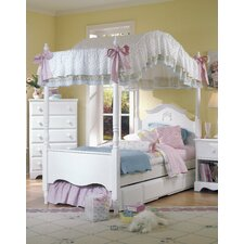 Carolina Cottage Canopy Bed with Storage