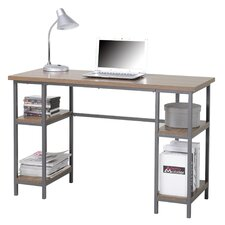 Computer Desk with 4 Shelves