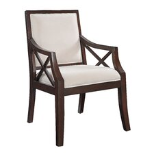 Fabric Arm Chair in Brown Cherry