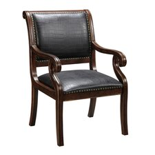 Leather Arm Chair in Brown