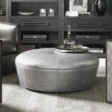 Claudia Leather Cocktail Ottoman