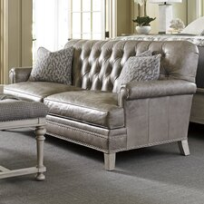 Oyster Bay Hillstead Leather Settee
