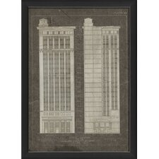 Plate 43 Office Building Framed Graphic Art